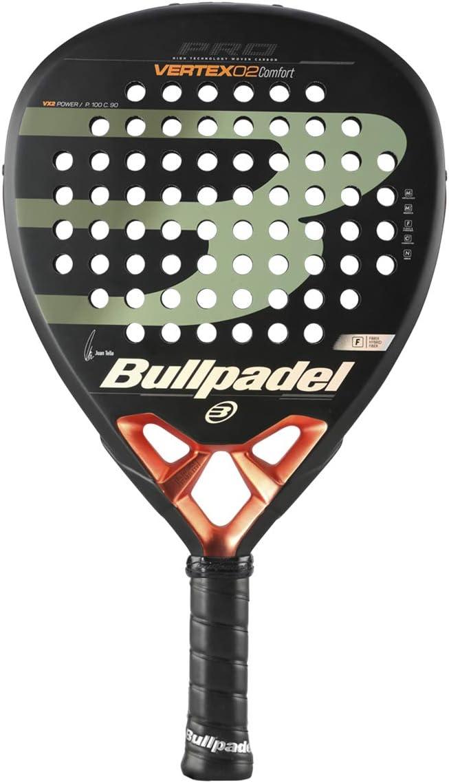 Bullpadel Vertex 2 Comfort, Adultos Unisex, Negro Naranja, EU