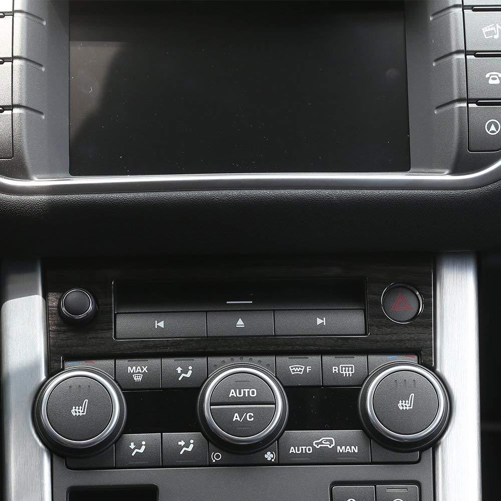 Center console Gear pannello ABS Dark Wood grain decorative copertura Trim