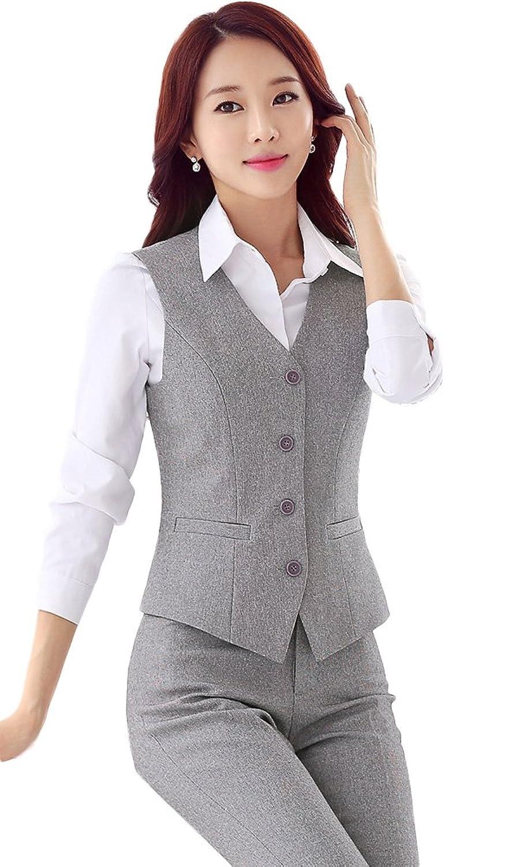 Chickle Women's 2 Piece Busniess Suits Pants Sets With Vest