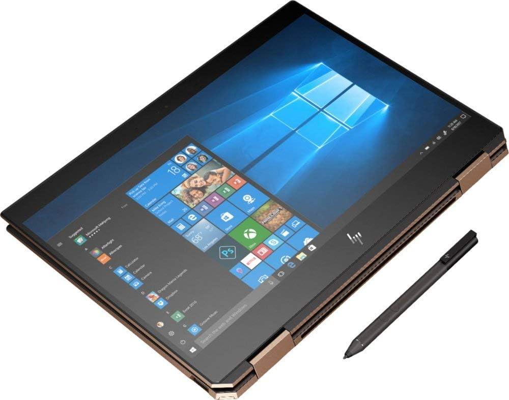 "2019 HP Spectre x360 13t Gem Cut with 13.3"" 2 in 1(i7 8565U, FHD IR Webcam, HP Pen, 3 Yrs McAfee Internet Security, Windows 10 PRO Upgrade, HP Worldwide Wrnty (16G+512G SSD, Dark Ash)"