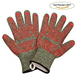 MINISTAR Kitchen Cooking Mitts-Grill Gloves 932℉ Extreme High Heat Resistant Oven/Cooking Gloves Super Value