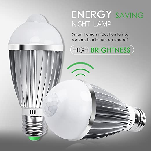 Bombilla Sensor, QPAU Bombillas LED E27 7W Luz con Sensor de Movimiento Blanca Cálida: Amazon.es: Iluminación