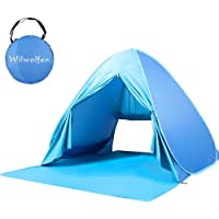 Wilwolfer Pop Up Tent Beach Sun Shelter Portable UV Protection Shade Cabana for Outdoor