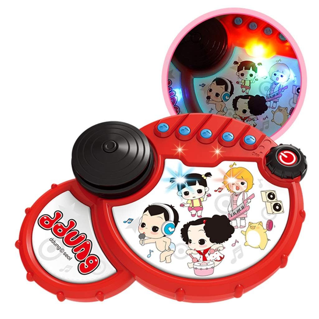 LIPENG-TOY Baby Toys Baby Pat Drums Children's Hand Drums Music Children Boys and Girls 6-12 Months Early Education Puzzle (Color : Red)