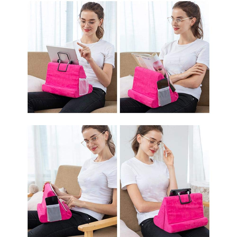 Sofa Universal Phone And Tablet Stands And Holders Desk Lap Grass green Floor Foldable Tablet Holder Book Stand Rest Reading Cushion Suitable For Bed Couch Tablet Stand Pillow Holder