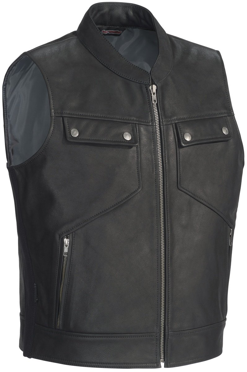 TourMaster Men's Nomad Leather Vest (Black, XX-Large)