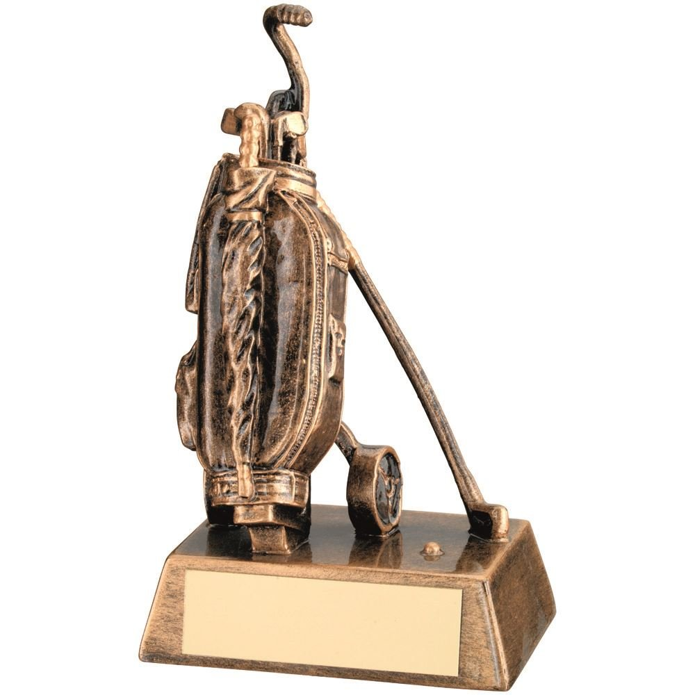 Lapal Dimension BRZ/GOLD RESIN GOLF 'BAG' TROPHY - 6.25in by Lapal Dimension (Image #1)