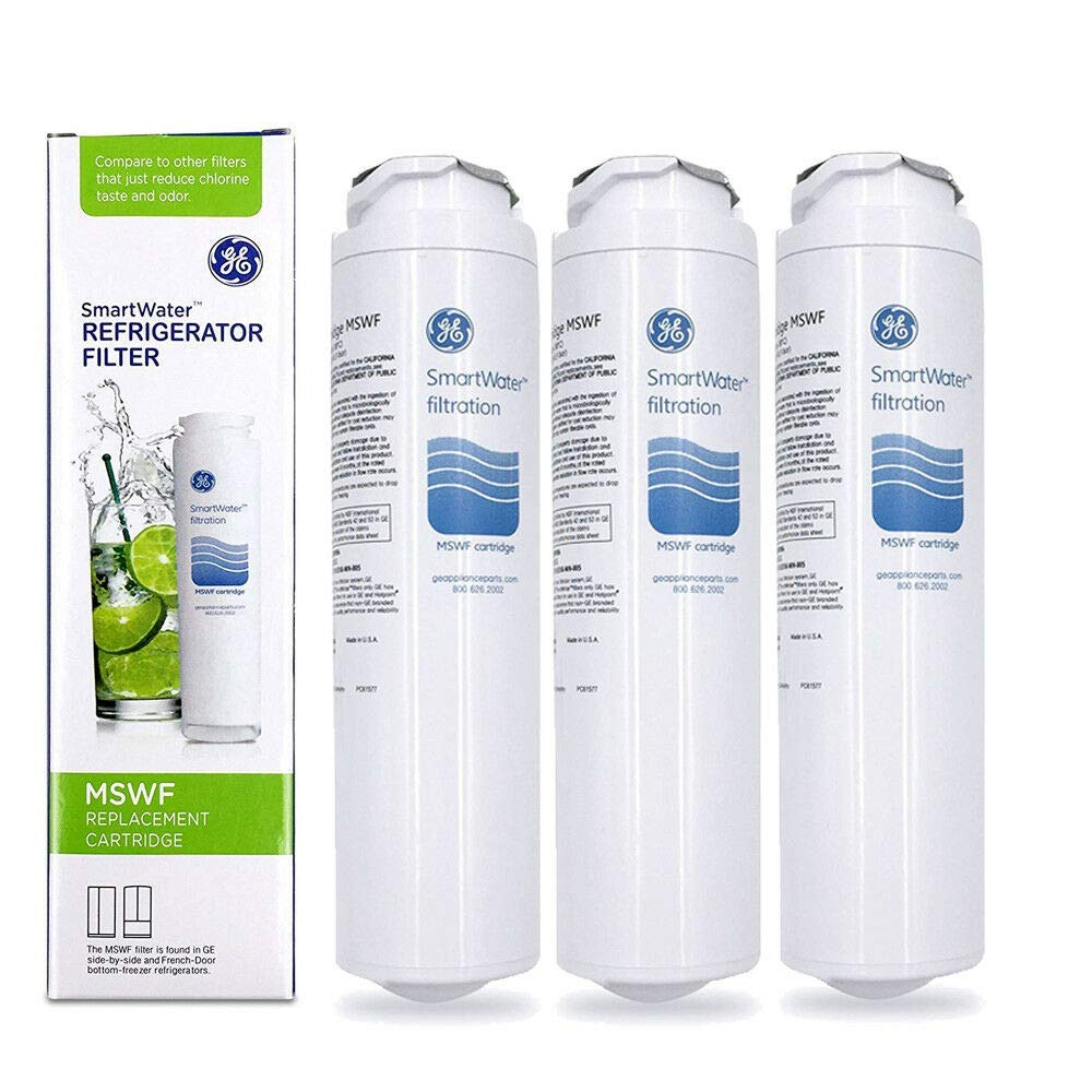 3 Pack Genuine OEM Sealed GE MSWF SmartWater Refrigerator Water Filter Cartridge