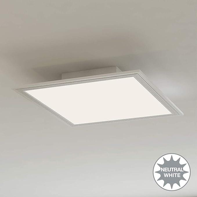 Briloner Leuchten Panel De Luz De Techo Led, 12 W, Blanco