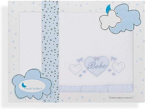 Sabanas de Invierno CORALINA Extrasuave MINICUNA 50x80 - OFERTA bajera+encimera+funda almohada - Color: Blanco//Gris