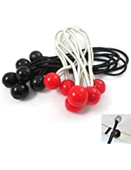 """12 Stretch Cords Ball 6"""" Elastic Bungee Strap Tarp Tie Down Bungy Canopy Cord"""