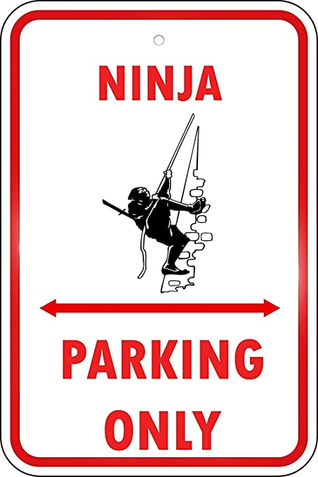 Amazon.com: Jesiceny New Tin Sign Ninja Parking Only ...