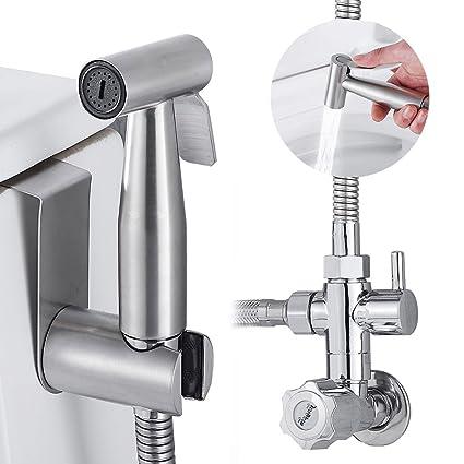 Tropicaleu Bidés de Mano del Rociador Grifo Ducha Handheld Sprayer Tocador de Mano Acero Inoxidable Pulverizador para Mascotas WC Closestool