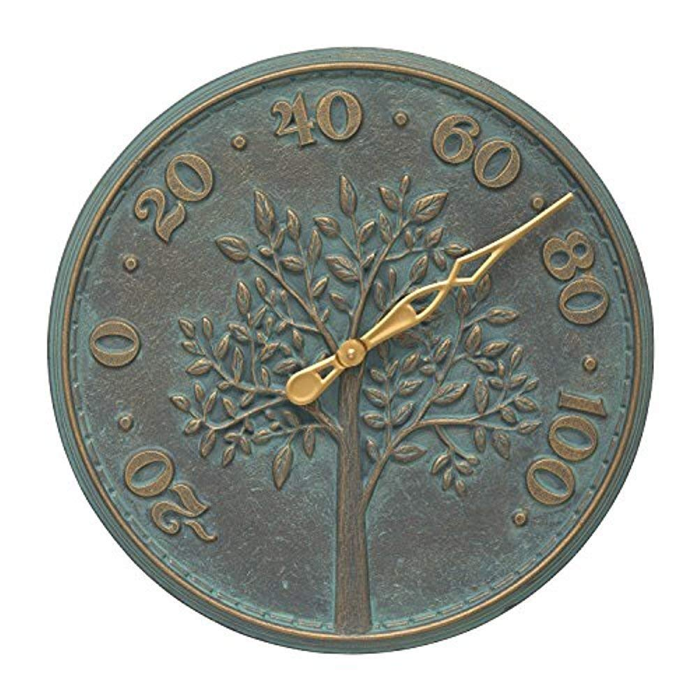 Tree of Life 16-in Indoor Outdoor Wall Thermometer - 10436