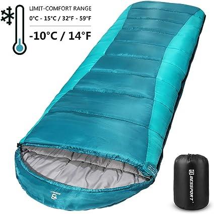 NEW ADULT SLEEPING BAG WARM WINTER WATERPROOF PORTABLE CAMPING HOLIDAY HIKING