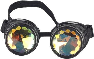 Rave Kaleidoscope Steampunk Goggles