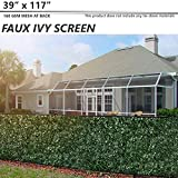Cheap BOUYA 39″ x 117″ Fence Screen Faux Ivy Privacy with Mesh Back-Artificial Leaf Vine Hedge Perfect for Outdoor Décor Garden Backyard Decoration Panels Fence Cover