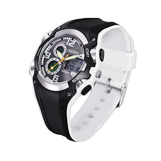 Amazon.com: Men Sports Watches Analog Digital Quartz 3atm Waterproof Fashion Military Watch (Grey): Cell Phones & Accessories