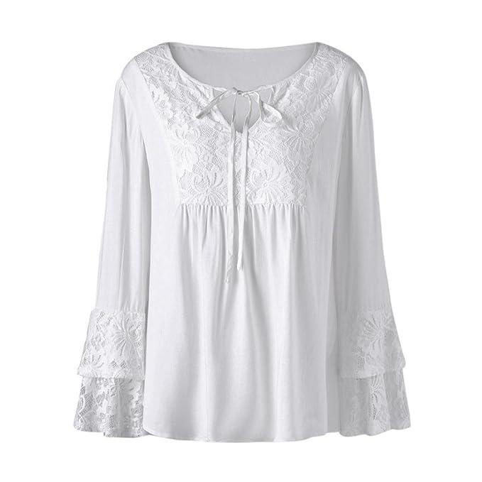 Amazon.com: Kangma mujeres Plus tamaño con cuello en V ...