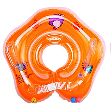 Infant Baby inflable anillo de natación flotador SwimTrainer Infant Swim Accesorios, Anaranjado