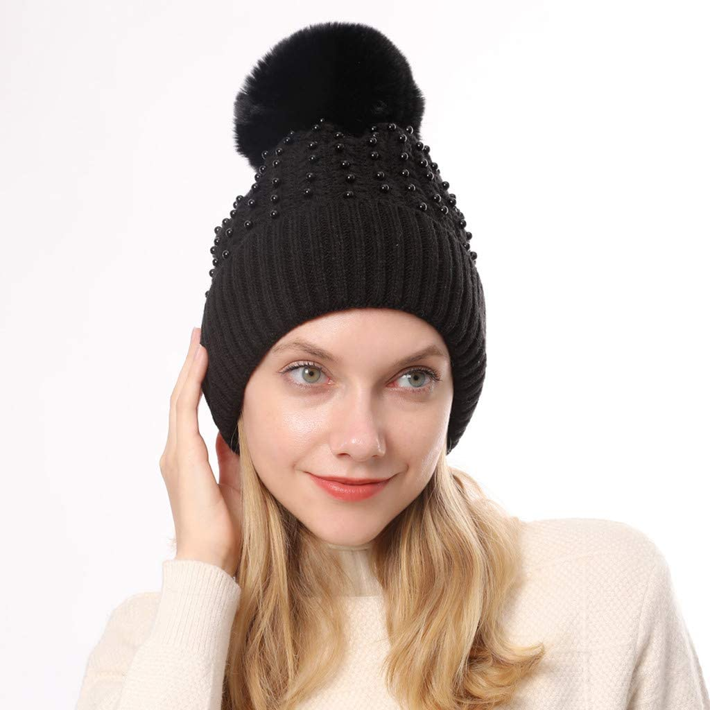 Thick Slouchy Cable Knit Skull Hat Ski Cap Chunky /& Soft Stretch Knitted Caps MEANIT Womens Winter Beanie Warm