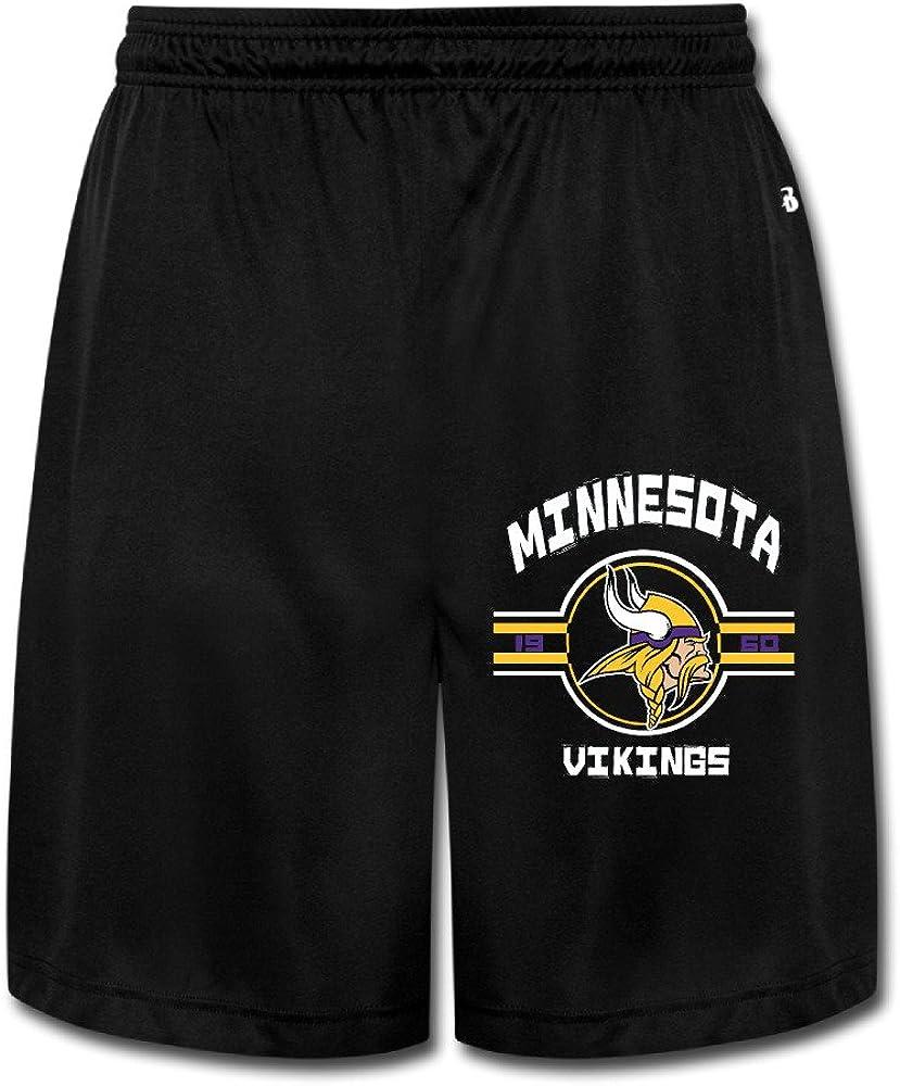 Duola Men's Short Training Pants Minnesota Viking Black