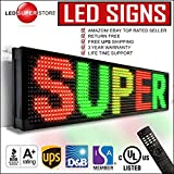 LED Super Store Signs 19'' x 69''- 3 Color (Red/Green/Yellow) Programmable Scrolling Display, Storefront Message Board - Industrial Grade Business Tools, EMC/IR