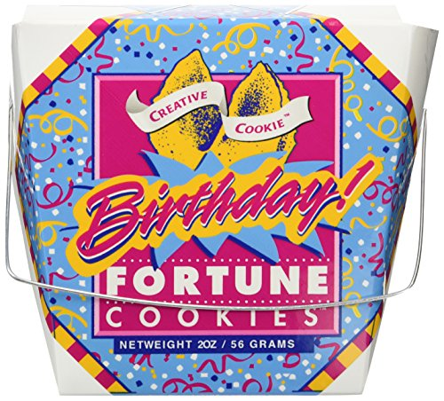 Happy Birthday Fortune Cookies - Unique Gourmet Gift - Kosher Certified -