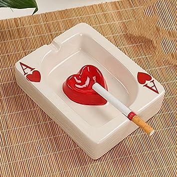 12788fa8b Cenicero Guo Shop Cerámica Simple Moderna Creativa Moderna Mini Una Moda De  Póquer Word Moda Chino