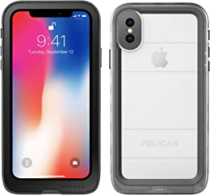 Pelican iPhone Case for iPhone 7,8 and SE, Waterproof, Marine Series Case, Fully Waterproof with Enhanced Audio Quality – for iPhone 7,8 and SE, Clear/Black (C35040-001A-BKCL)