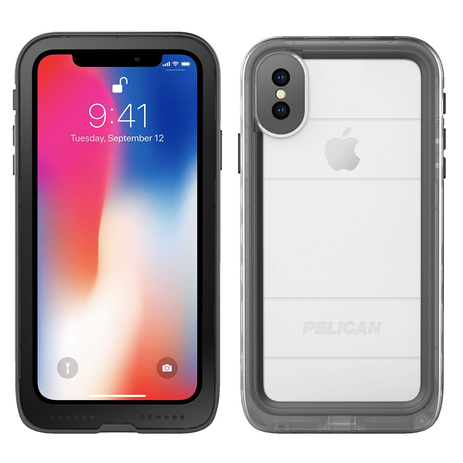 differently 83ed6 9d714 iPhone X Case | Pelican Marine Waterproof Case for iPhone X (Clear/Black)
