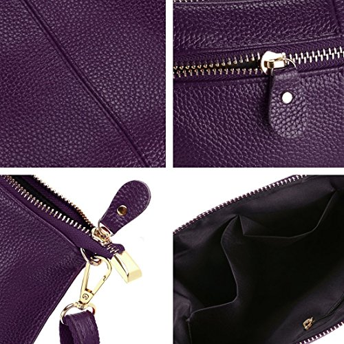Small Handle Pu Bag Leather Hand Clutch For Different Women Bag Bag Purple Crossbody Bag Fashion Shoulder Wallets wHvq8w