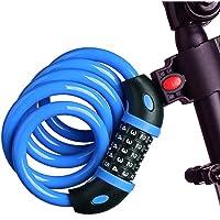 Candado de Bicicleta, Candado de cable ajustable Candado de Cadena con 5 Dígitos Cadena de Bloqueo Cerradura para…