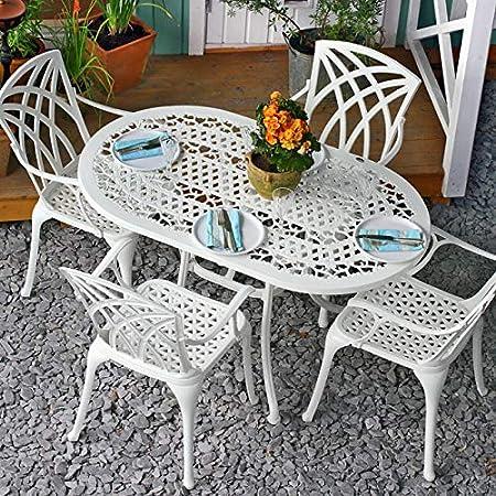2 x APRIL Chaise de jardin en aluminium