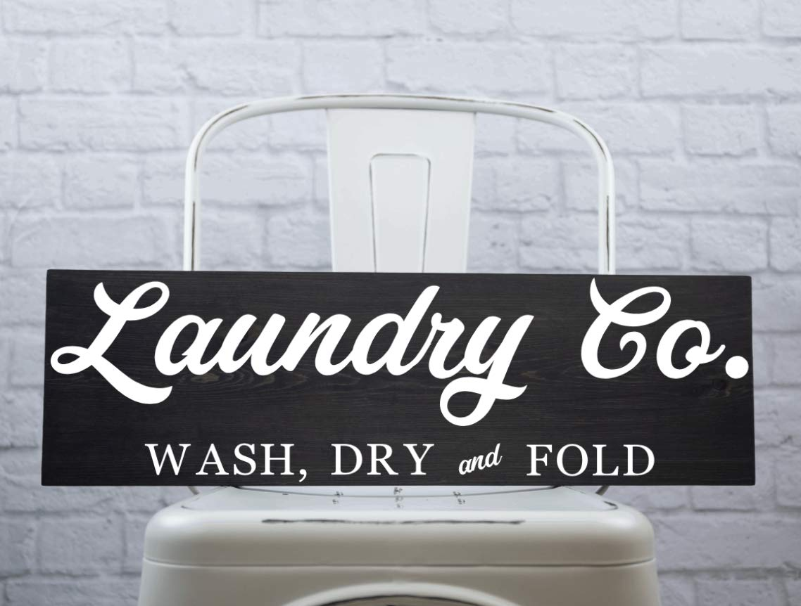 Amazon Com Laundry Co Sign Farmhouse Style Laundry Room Decor Modern Farmhouse Home Decor Handmade