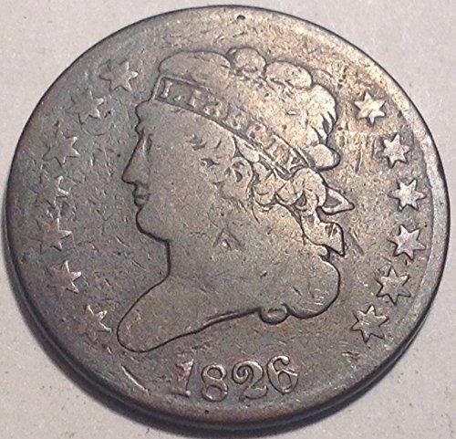 1826 Classic Head Half Cent Half Cent Choice Fine