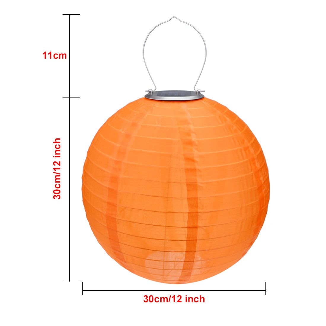 9 Packs Multi-Color 12'' Solar Powered Lanterns Hanging Solar Lamps for Garden by uxcell (Image #2)