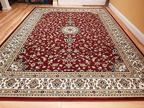 Amazon Com Large 5x8 Red Cream Beige Black Isfahan Area