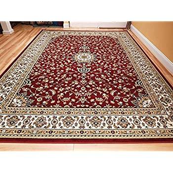 Amazoncom Red Persian Rugs for Living Room 5x8 Red Rugs for