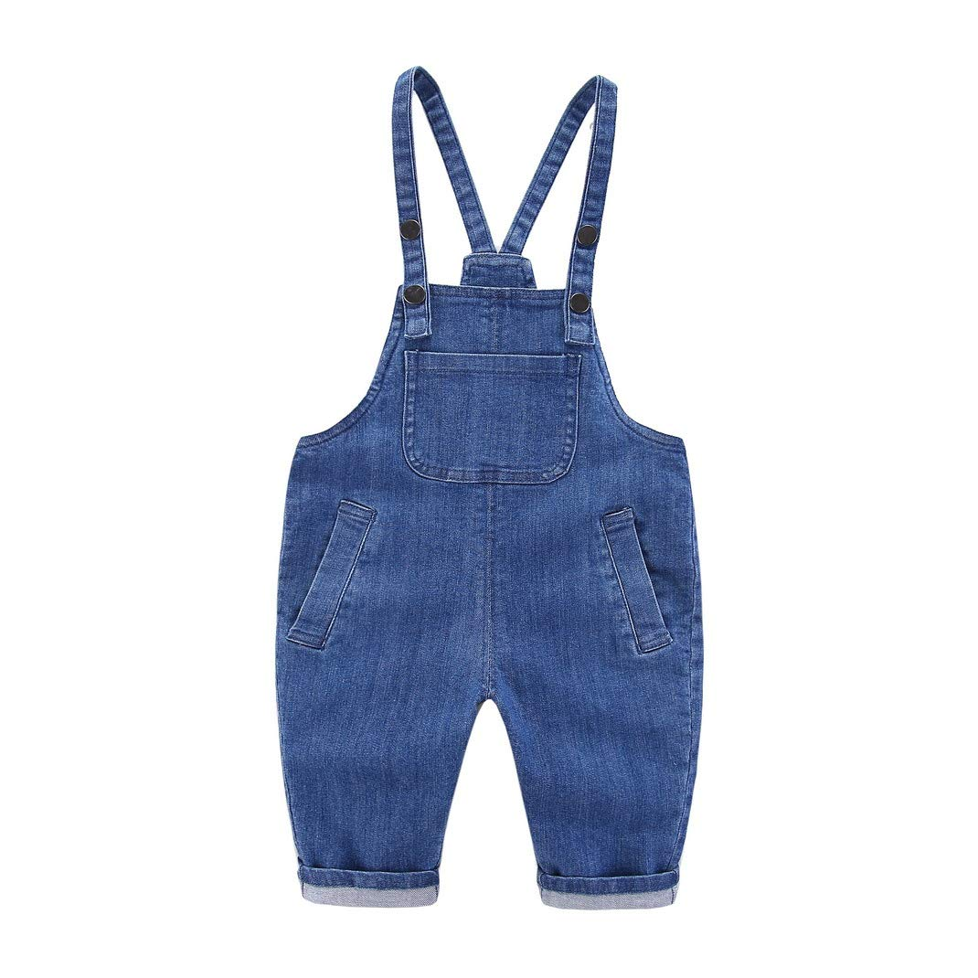 AOOPOO pantaloni del bambino Salopette per bambini denim tuta salopette tuta per ragazzi ragazze per bambini 0-4 anni