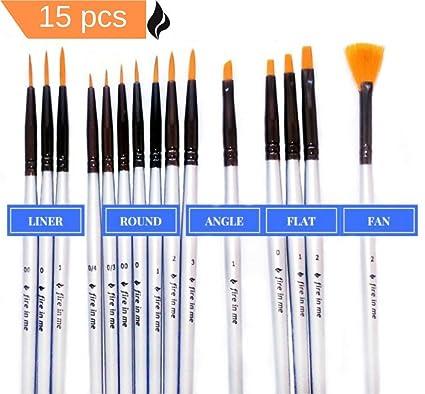 Amazon Premium Fine Detail Paint Brush Set Of 15 Pcs Synthetic