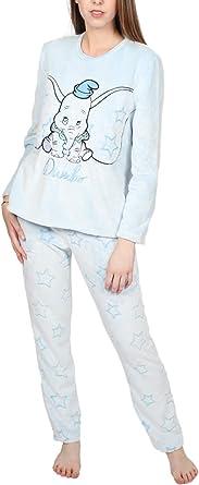 Disney Pijama Manga Larga Calentito Corel Dumbo para Mujer