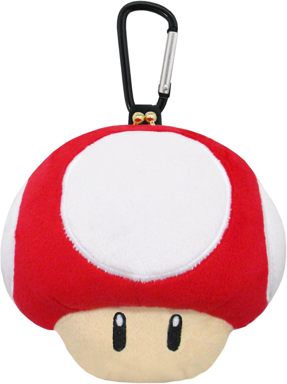 Amazon Com Super Mario Bros Plush Pouch Super Mushroom Mz29 Toys