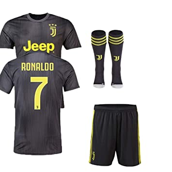 3be01a659a4 Replica JUVENTUS 2018 19 KIDS AWAY KIT - RONALDO NAME (28 (11 12 ...