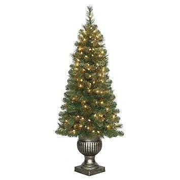 Amazon.com: 4.5 ft. Pre-Lit LED Wesley Pine Artificial Christmas ...