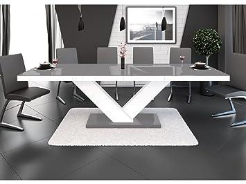 H MEUBLE Mesa a Comedor diseño Extensible 160 ÷ 256 cm x P: 89 cm x ...