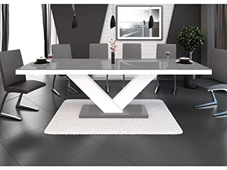 H MEUBLE H Mobile Tavolo da Pranzo Design allungabile 160 ...