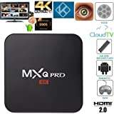 GooBang Doo MXQ Pro Android TV Box 64 Bit Amlogic S905 Android 5.1 Lollipop OS with Fully Loaded Kodi, Apps, GooBang Doo Cleaning Cloth and Support Card