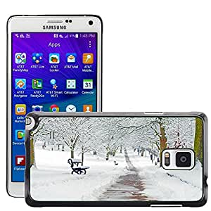 Hot Style Cell Phone PC Hard Case Cover // M00152670 Snowy Snow Snowed Seasons Branch // Samsung Galaxy Note 4 IV