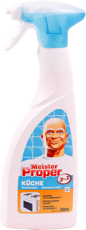 16x Meister Proper Küchenspray 1600ml Küchen Reiniger Spray Fettlöser  Fettreiniger